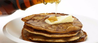 Healthy Wholemeal Pancakes With Maple Syrup Recipe