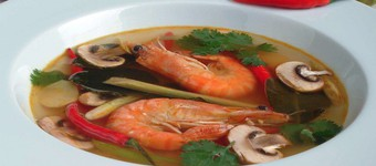 Fragrant Thai Hot And Sour Prawn Soup (Tom Yam Goong) With Noodles Recipe