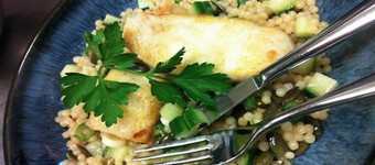Low GI Fillet of Halibut With Giant Couscous Recipe
