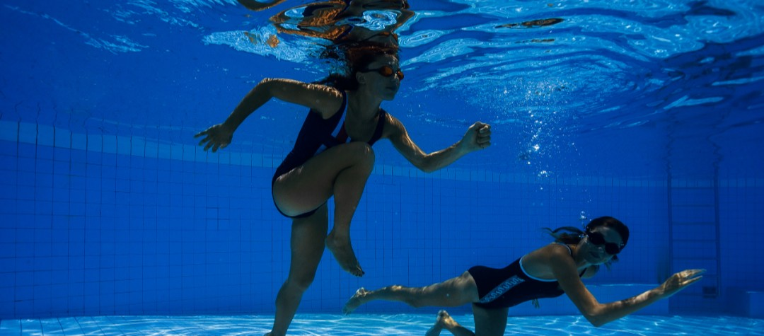 Runner Rehab In A Swimming Pool