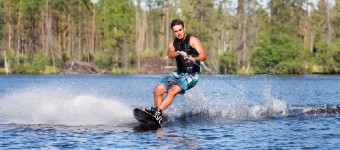 Taking To The Water In Wakeboarding