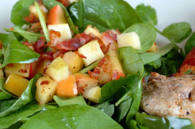 An image of Low Carb Pork Tenderloin And Chorizo Kebabs With A Lamb's Lettuce Salad Recipe