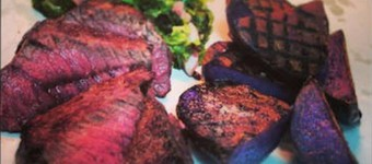 Healthy Venison, Smoked Bacon Cabbage And Grilled Potatoes Recipe