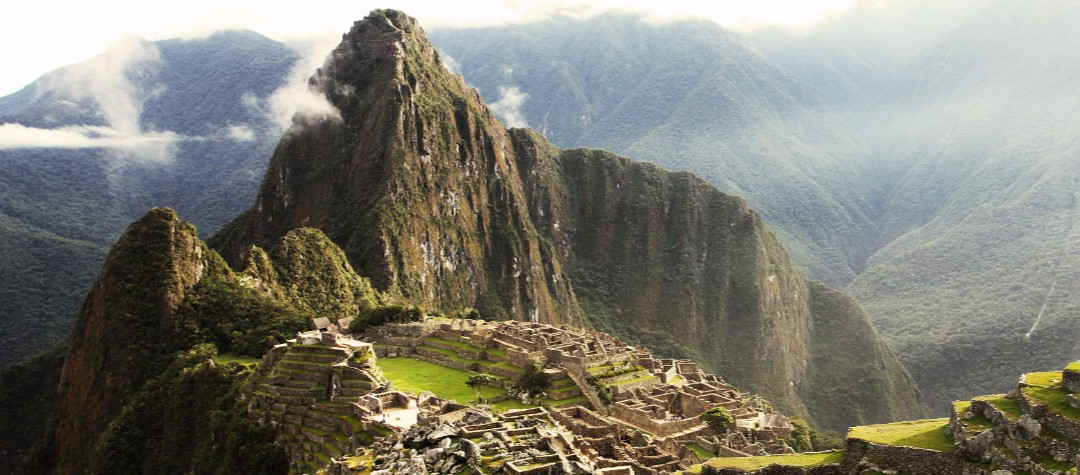 The Inca Trail In The Peruvian Andes