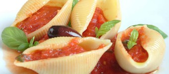 Low GI Conchiglioni With Roasted Tomato Sauce Recipe
