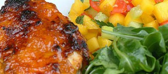 Healthy Chicken Mango Wraps With Salsa And Rocket Recipe
