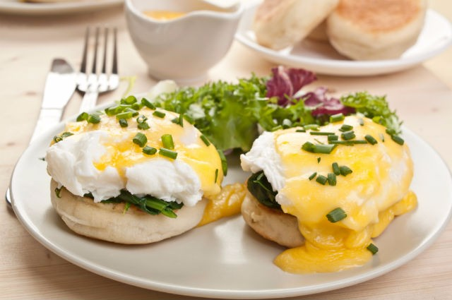 An image of Low Fat Easy Eggs Florentine Recipe