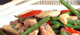 Fuelling Thai Basil Chicken With Rice Noodles Recipe