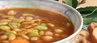 Healthy Low GI Chickpea And Flageolet Bean Soup Recipe