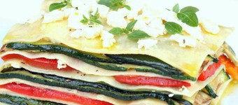Low Calorie Courgette Pasta Millefeuille With A Tomato Salad