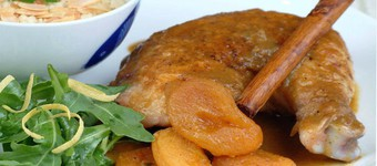 Healthy Algerian Chicken Tagine With Apricots Recipe