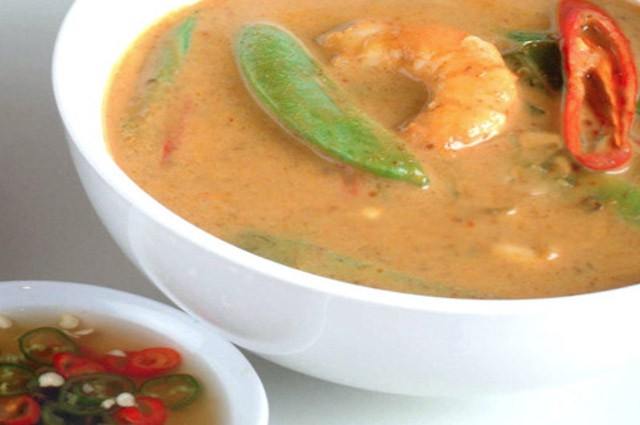 An image of Healthy Penang Prawn Curry With Fragrant Steamed Jasmine Rice Recipe