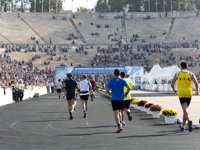 A marathon in Athens, Greece