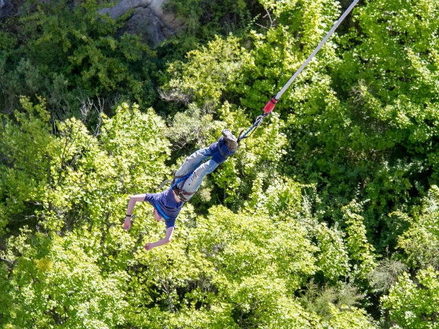 Bungee jump in Queenstown, New Zealand