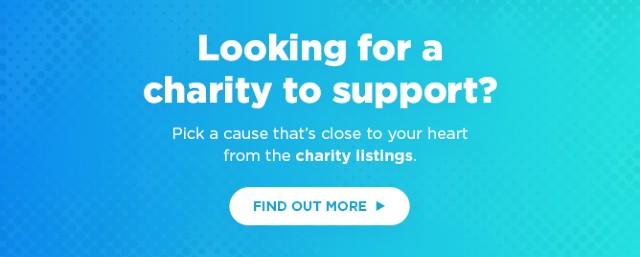 Charity listings