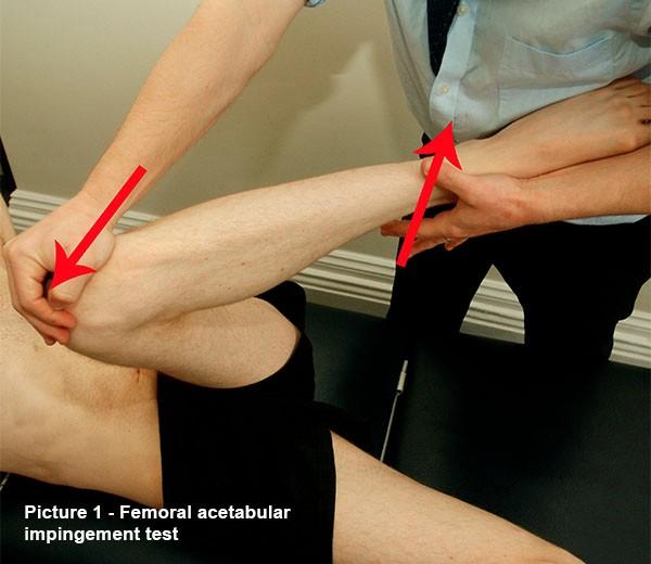 Femoral acetabular impingement test