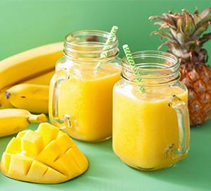 Banana, Mango And Pineapple Smoothie