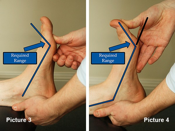 Toe extension range