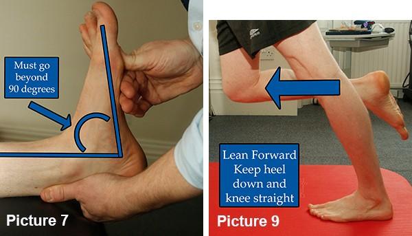 Calf length test and calf stretch