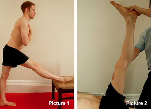 Hamstring stretch and hamstring contraction